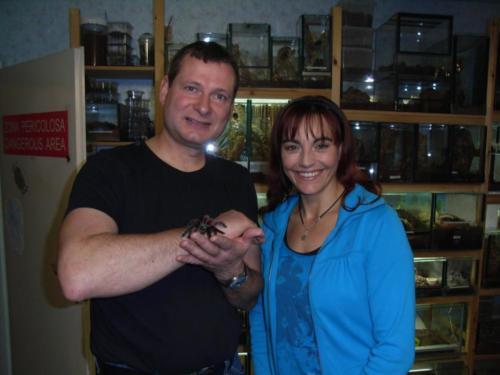 Diana Eichhorn, Bekannt aus der Sendung HundKatzeMaus zu Besuch in meinem Spinnenraum